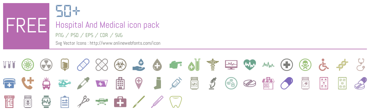 50 Hospital And Medical Icons Packs Free Downloads