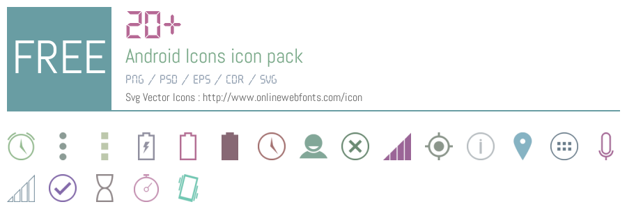 20 Android Icons Icons Packs Free Downloads - OnlineWebFonts COM