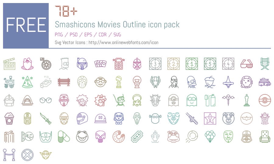 Download +78 Smashicons Movies Outline Icons Packs Free Downloads ...