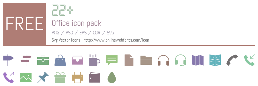 22 Office Icons Packs Free Downloads - OnlineWebFonts COM