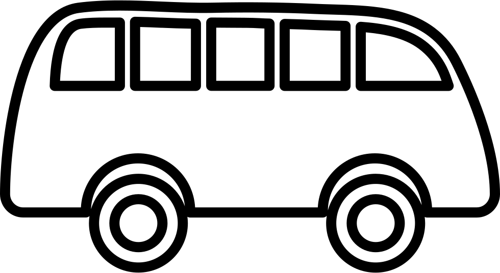 Bus Outline Pointing To Right Svg Png Icon Free Download