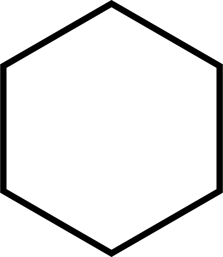 hexagon vertical outline svg png icon free download
