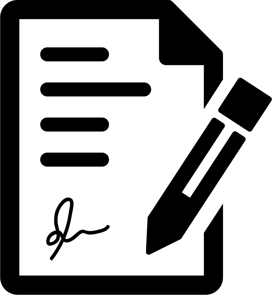 signing the contract svg png icon free download 29364