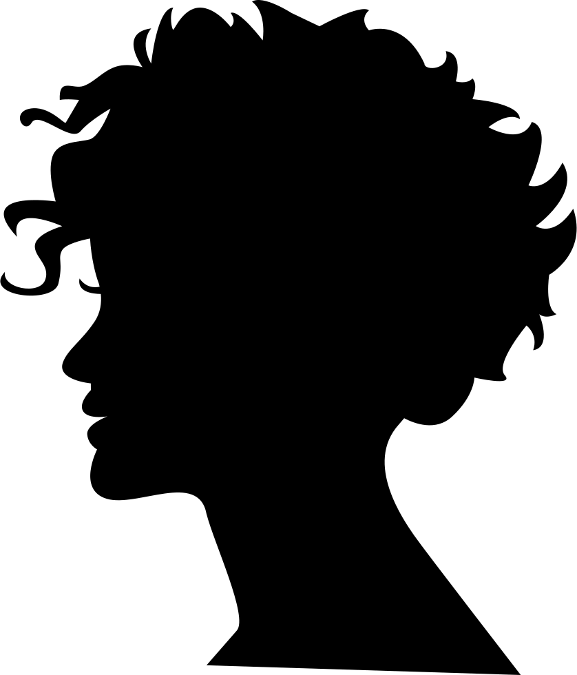 Fashion Woman Profile Logo:  Woman Head Silhouette With Short Hair Svg Png Icon Free