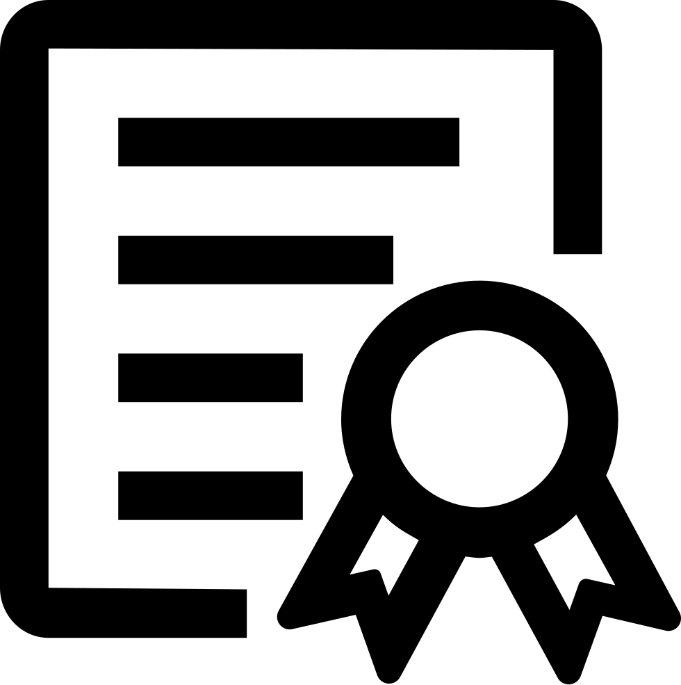 certificate svg png icon free download 412584