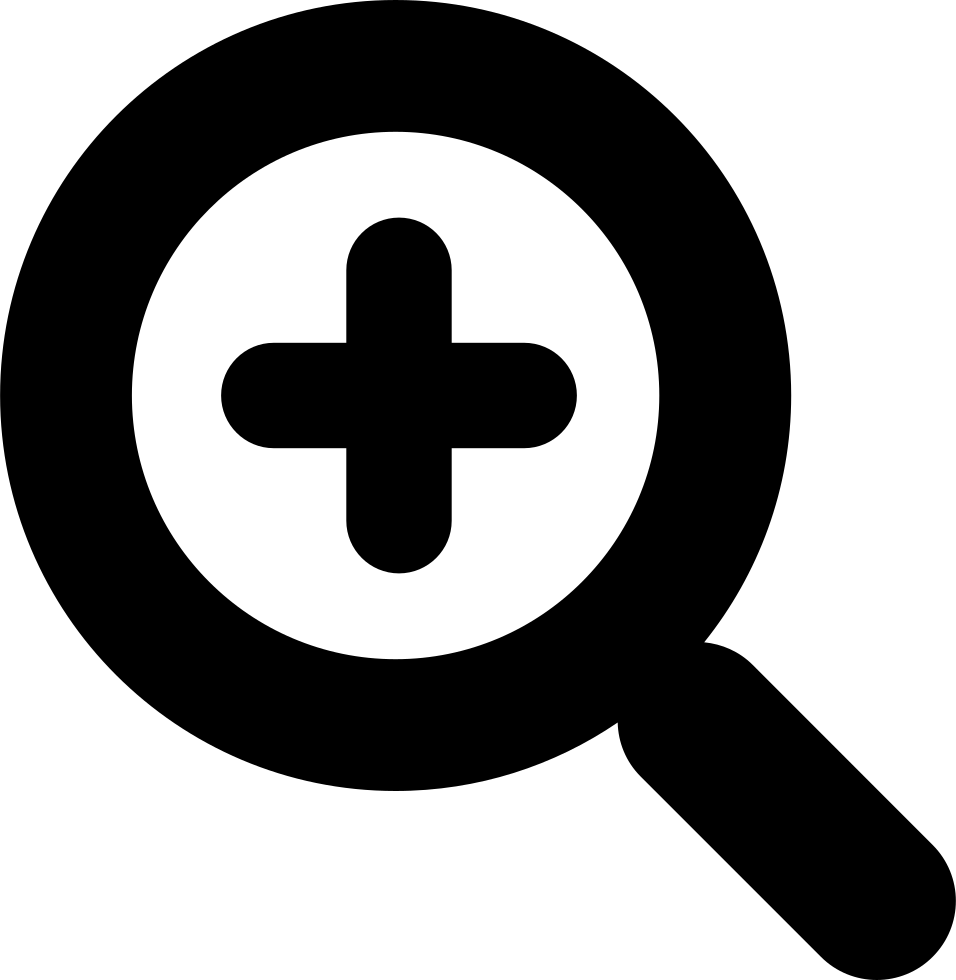 magnifying glass plus zoom svg png icon free download