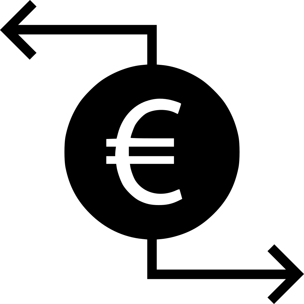 transaction euro sign finance money svg png icon free