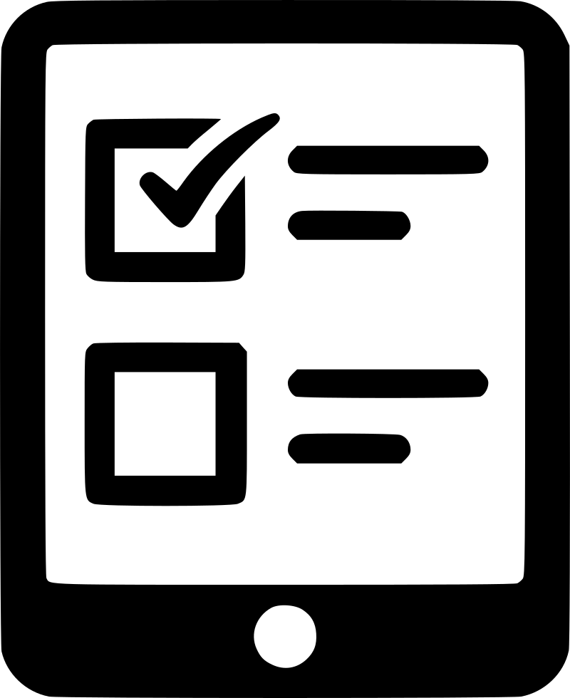 Tablet Mobile Online Questionnaire Svg Png Icon FreeQuestionnaire Logo