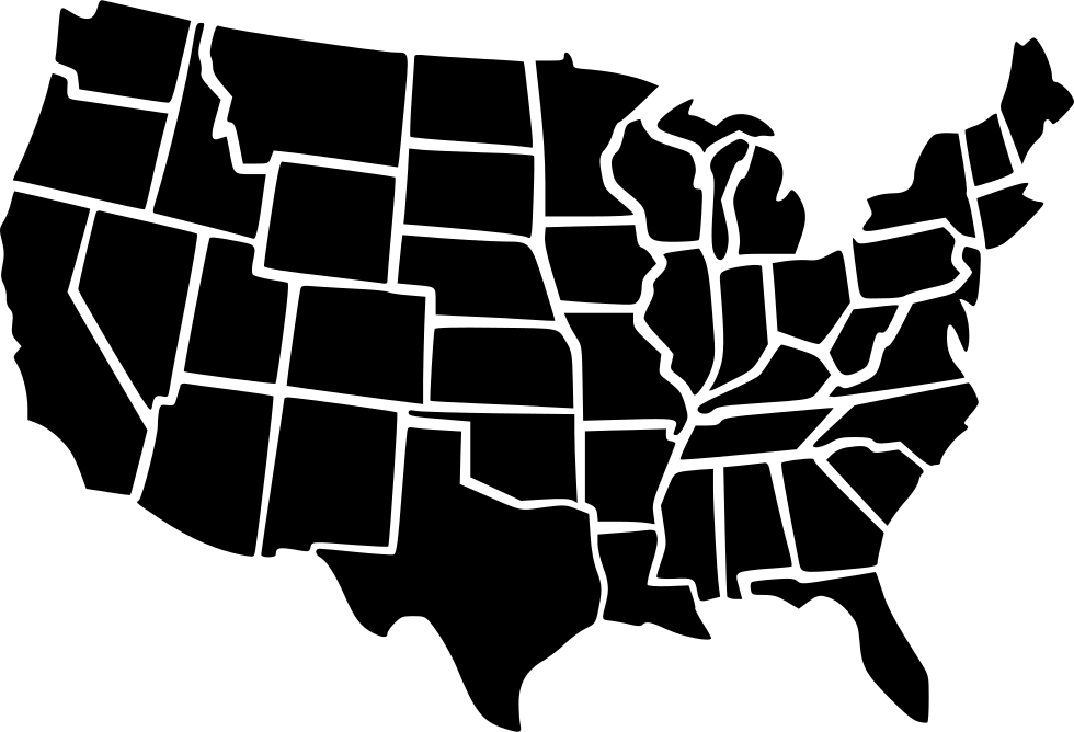 Usa Map Svg Png Icon Free Download   466947