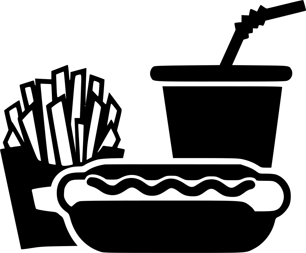 Hot Dog Sausage Soda Cup French Fries Svg Png Icon Free ...