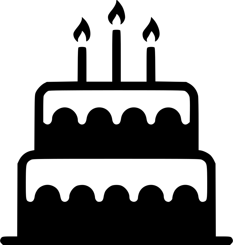 Birthday Cake Candle Sweet Dessert Svg Png Icon Free
