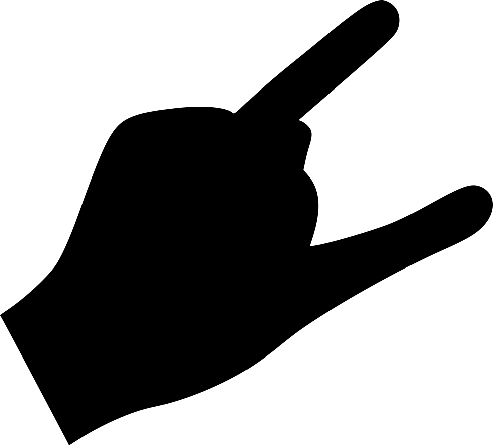 finger rock cool svg png icon free download 483869