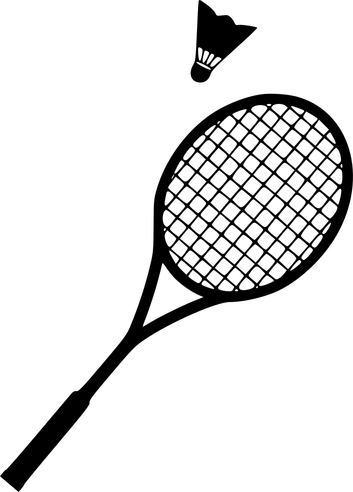 badminton shuttlecock racket svg png icon free download