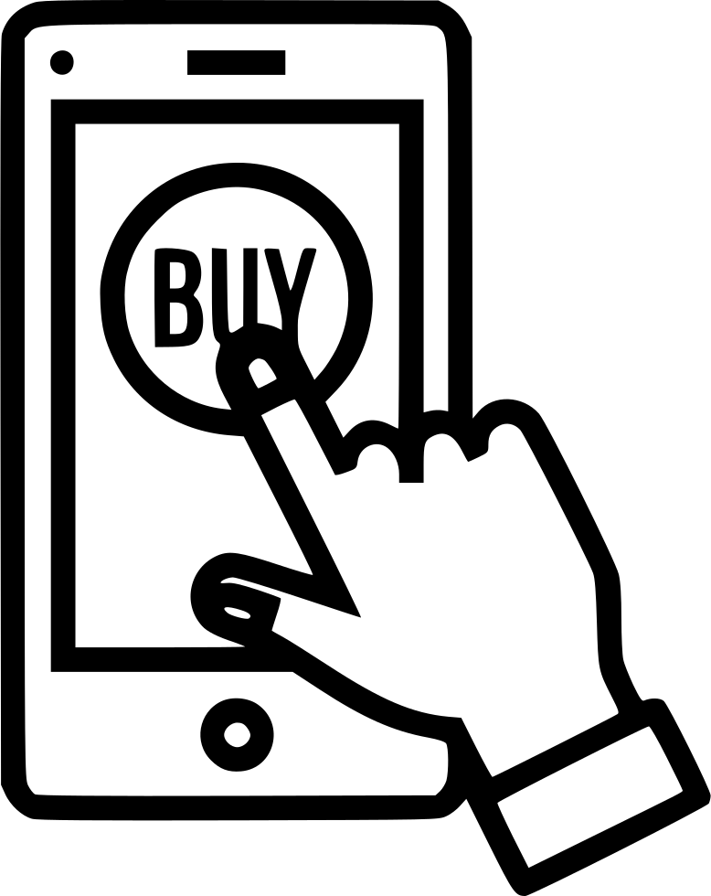 Mobile Online Store Shop Buy Sell Product Hand Gesture Svg ...