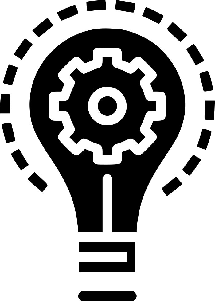 Bulb Idea Imagination Light Innovation Setting Gear Svg