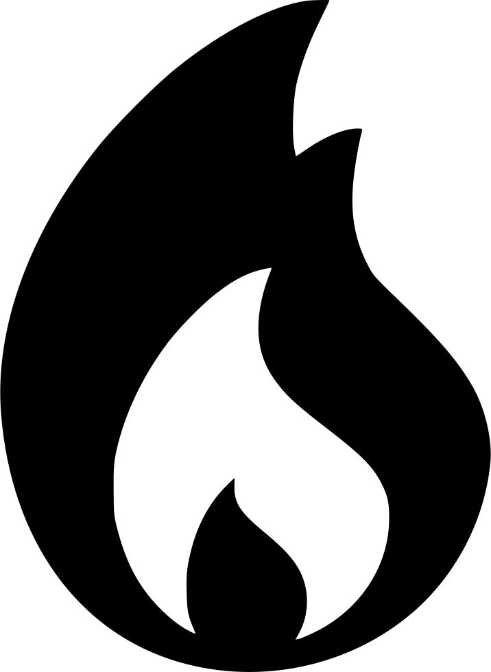 Fire gross flame black symbol - Free interface icons  |Black Flame Icon