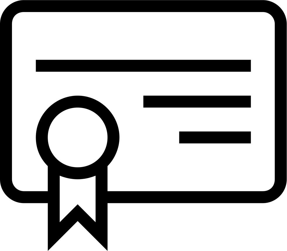Certificate Of Education Outlined Symbol Svg Png Icon Free