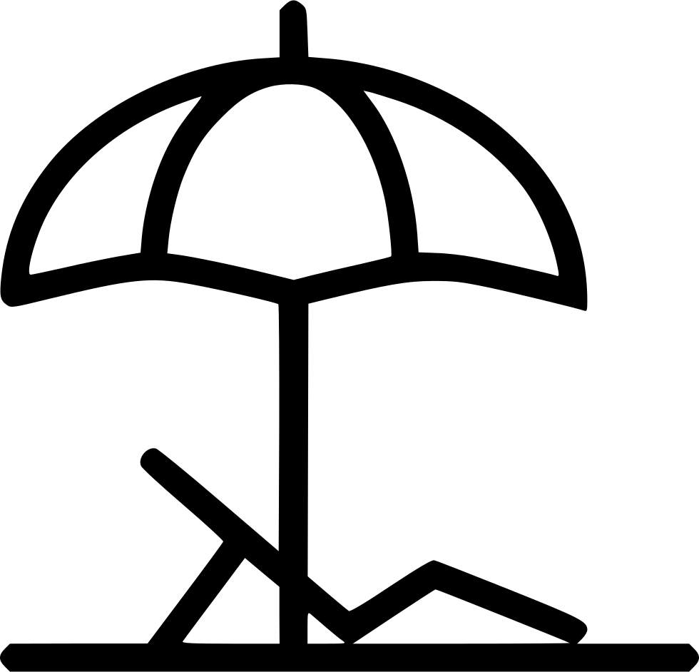 Beach umbrella and chair png - Png File Svg