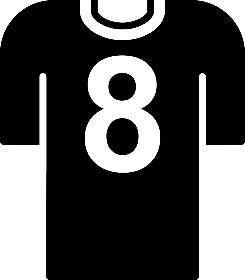 Football Player T-shirt With Number 8 Svg Png Icon Free