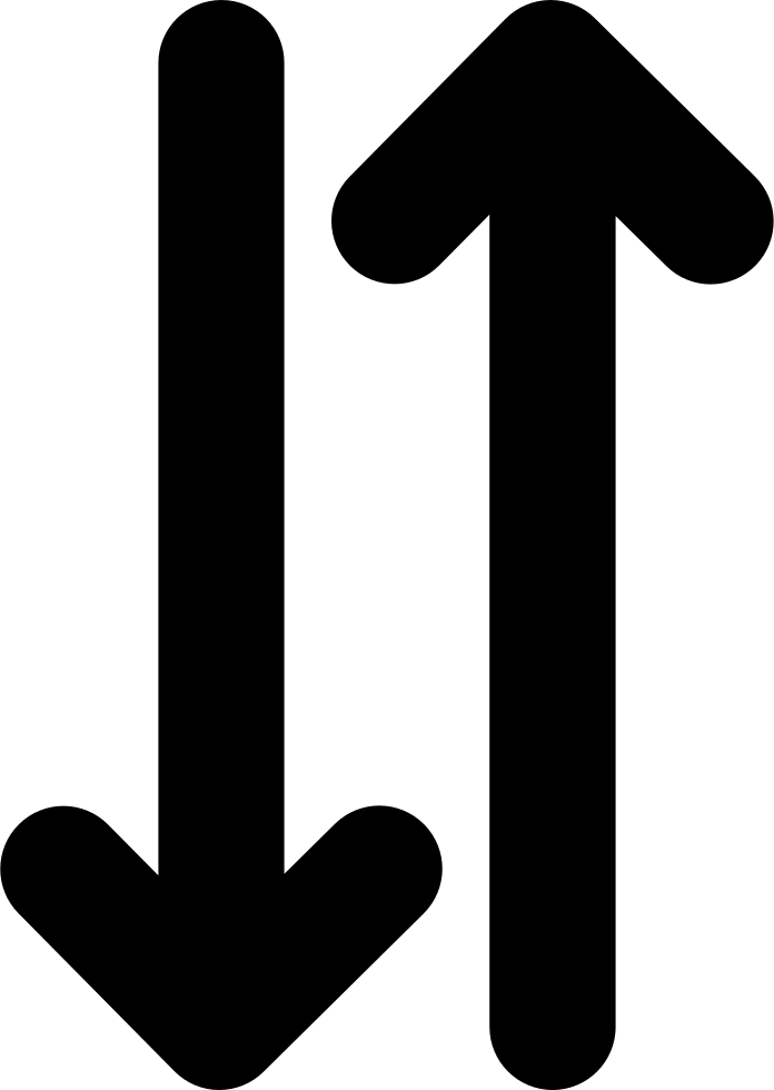 two opposite up and down arrows side by side svg png icon free download 71742. Black Bedroom Furniture Sets. Home Design Ideas