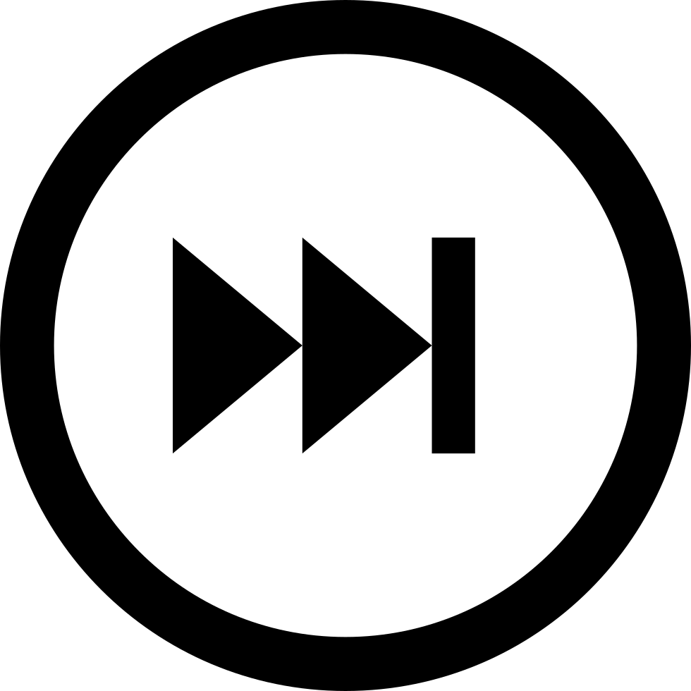 next step with circular multimedia button svg png icon