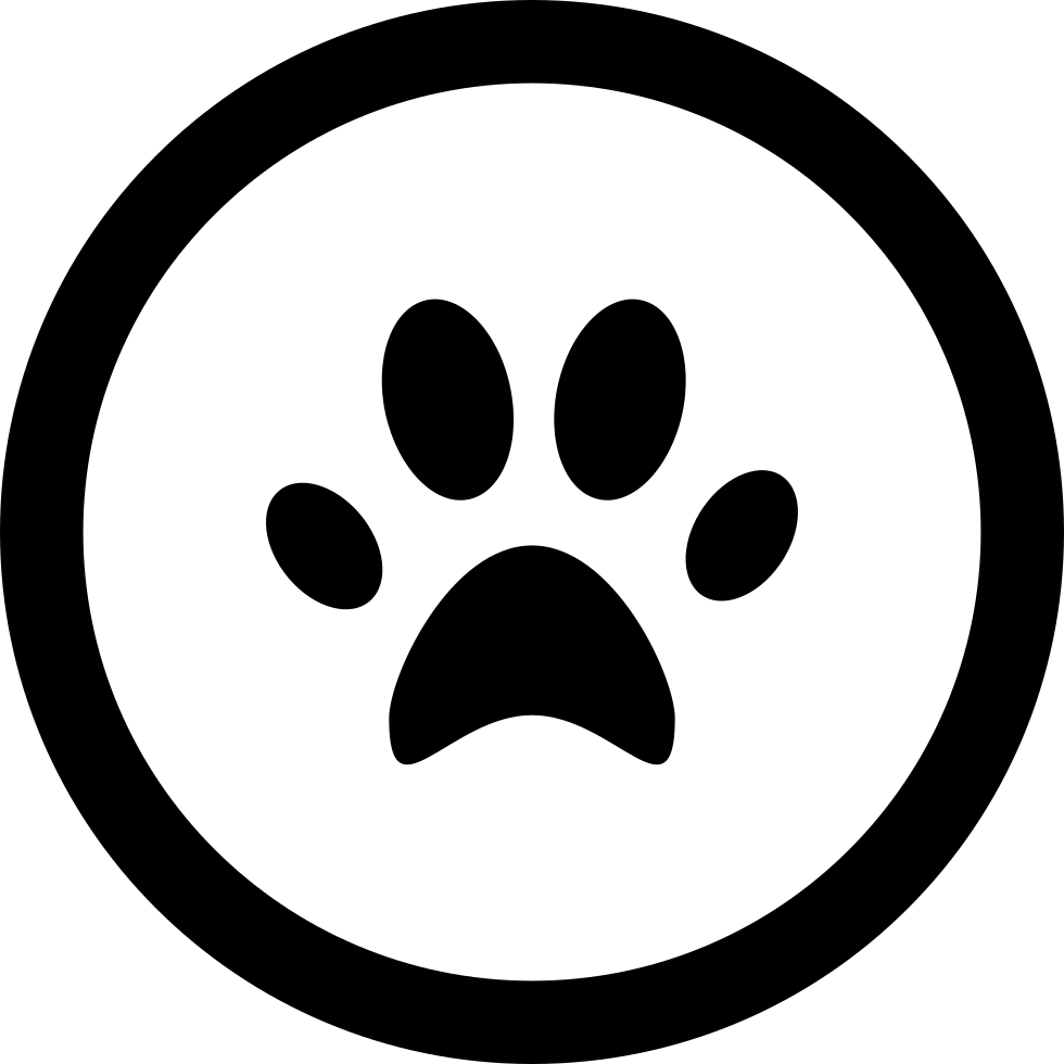 Animal Footprint In Circular Button Svg Png Icon Free ...
