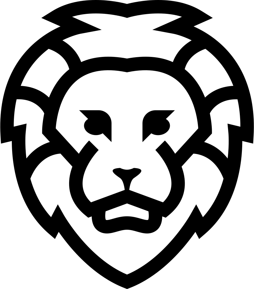 Download Lion Face Outlined Front Svg Png Icon Free Download ...