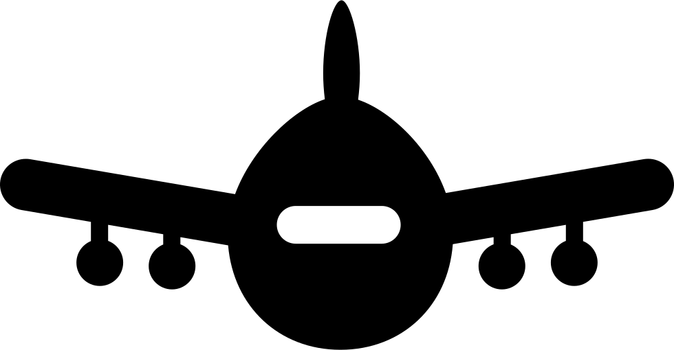 Airplane Wheel Clip Art : Airplane front view svg png icon free download