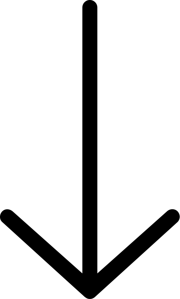 Arrow thin. Ios down svg png