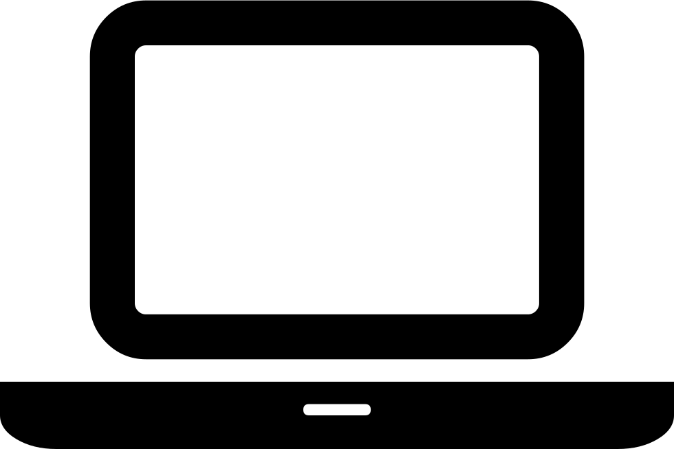 Black Computer Icon Png Laptop Svg Png ...