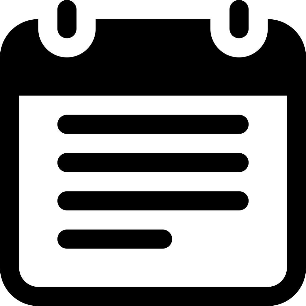 Note Of Rectangular Rounded Shape With Text Lines Svg Png ...