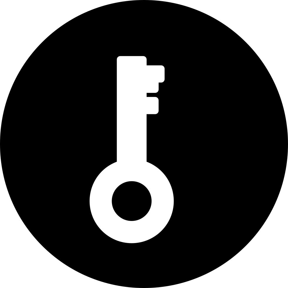 Key Password Interface Symbol In A Circle Svg Png Icon Free Download