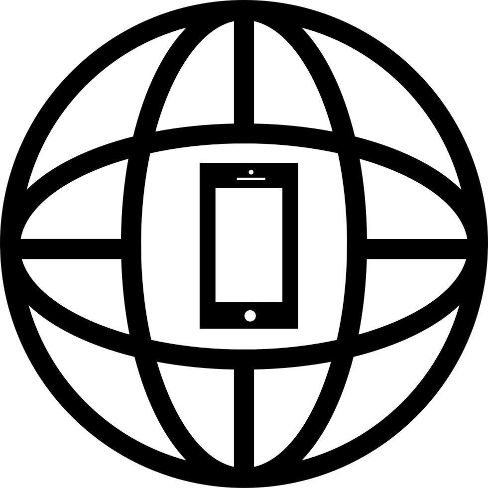 Earth Grid With A Cellphone In The Middle Svg Png Icon Free Download