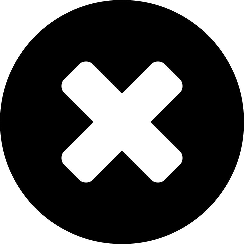 Cross Mark On A Black Circle Background Svg Png Icon Free