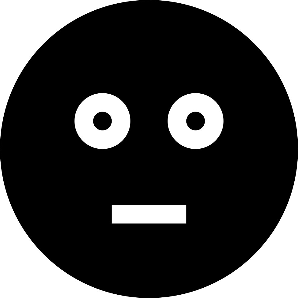 Baffled Emoticon Smiley Shocked Face Svg Png Icon Free ...