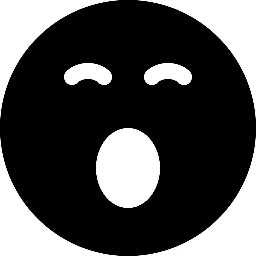 Sleepy Emoticon Smiley Face Svg Png Icon Free Download ...