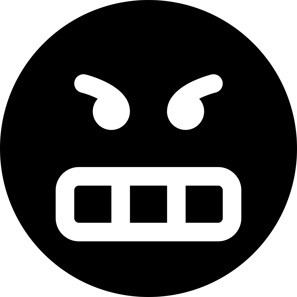 Frustrated Emoticon Smiley Face Angry Svg Png Icon Free ...