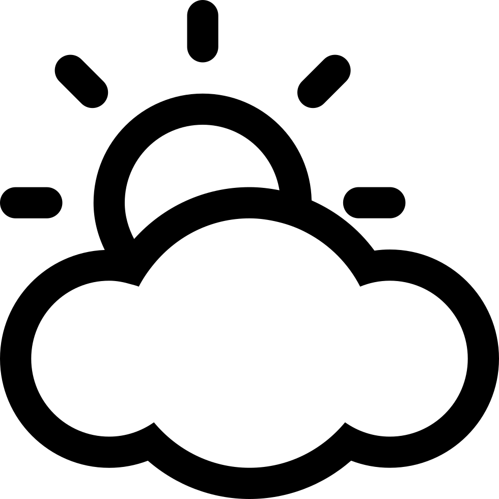 Cloudy Weather Svg Png Icon Free Download (#154 ...