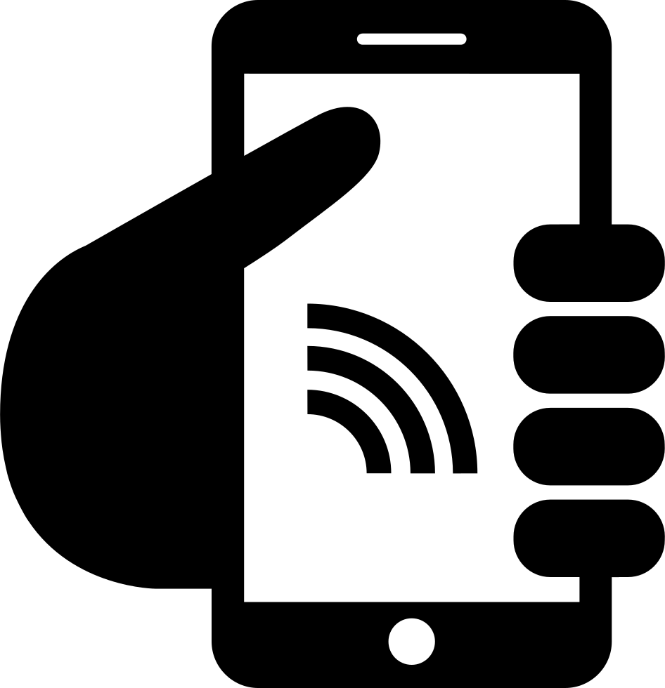 Smartphone With Internet Connection Svg Png Icon Free ...