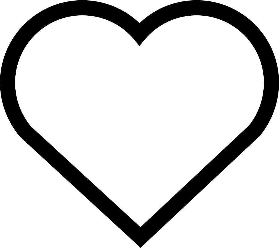 hollow heart svg png icon free download   158584