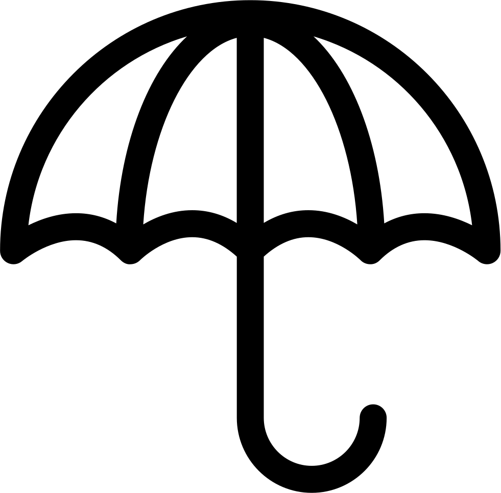 umbrella opened outline svg png icon free download 16015