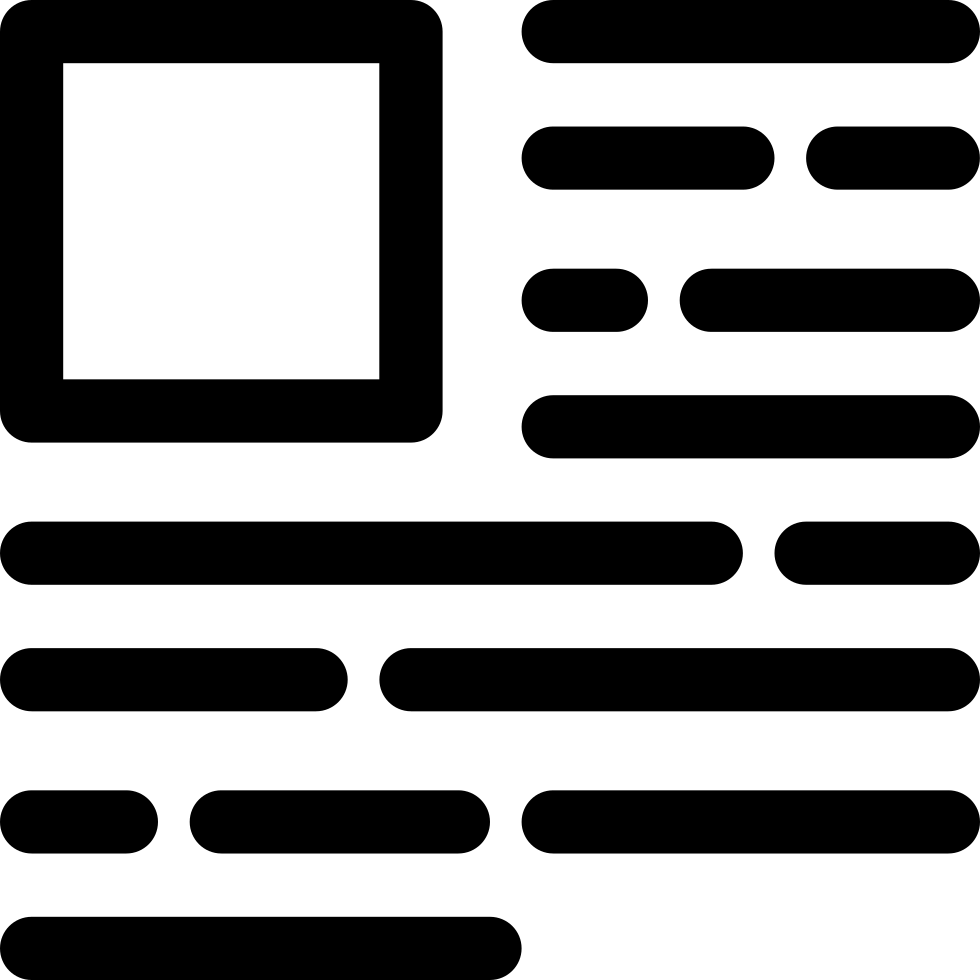 Horizontal Lines And A Square Svg Png Icon Free Download (#17098