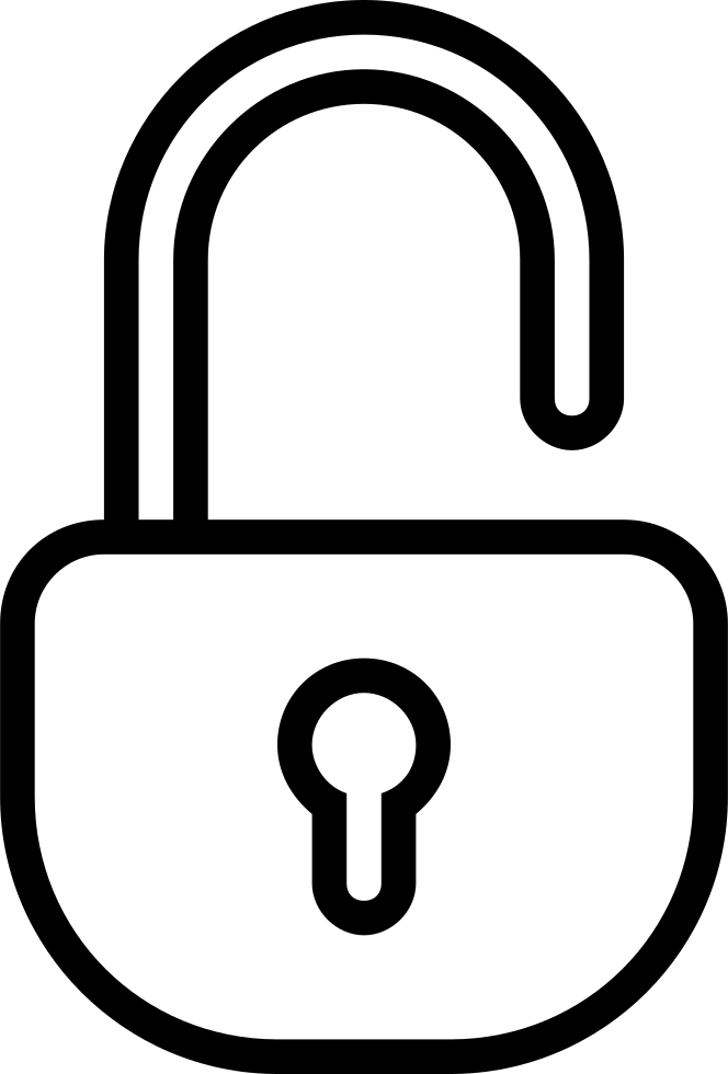 Unlocked Padlock Outlined Security Tool Symbol Svg Png Icon Free
