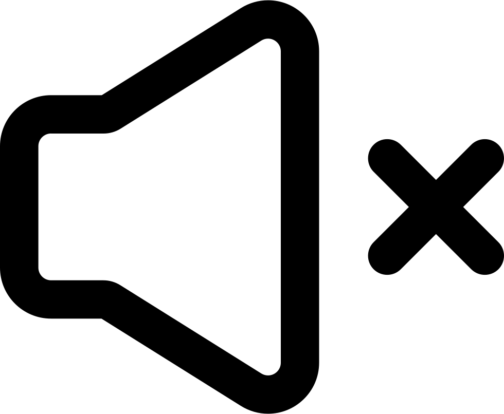 Speaker Silent Outline With A Cross Svg Png Icon Free