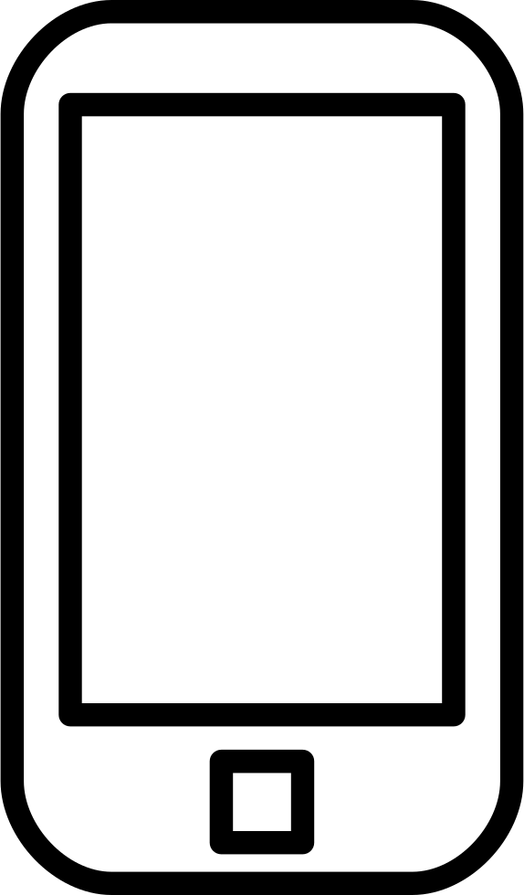 Phone outline. Mobile svg png icon