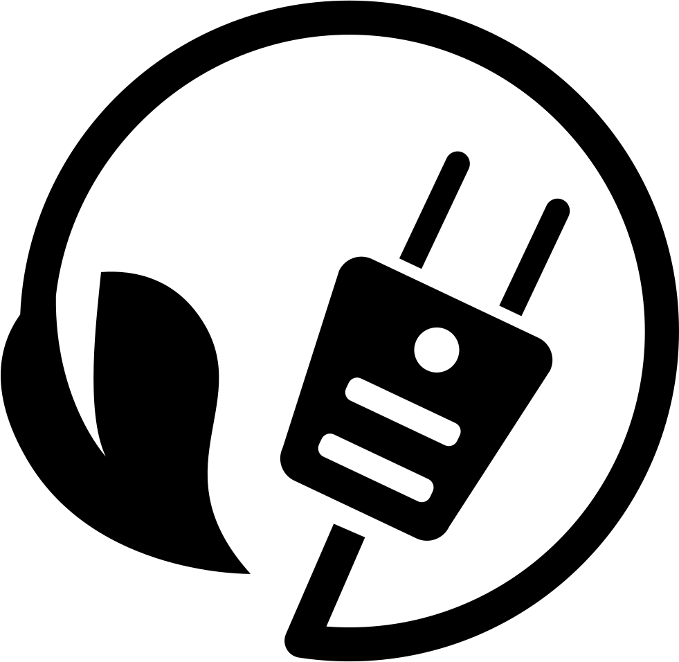Ecological Energy Plug Symbol With Cord And A Leaf Svg Png Icon Free