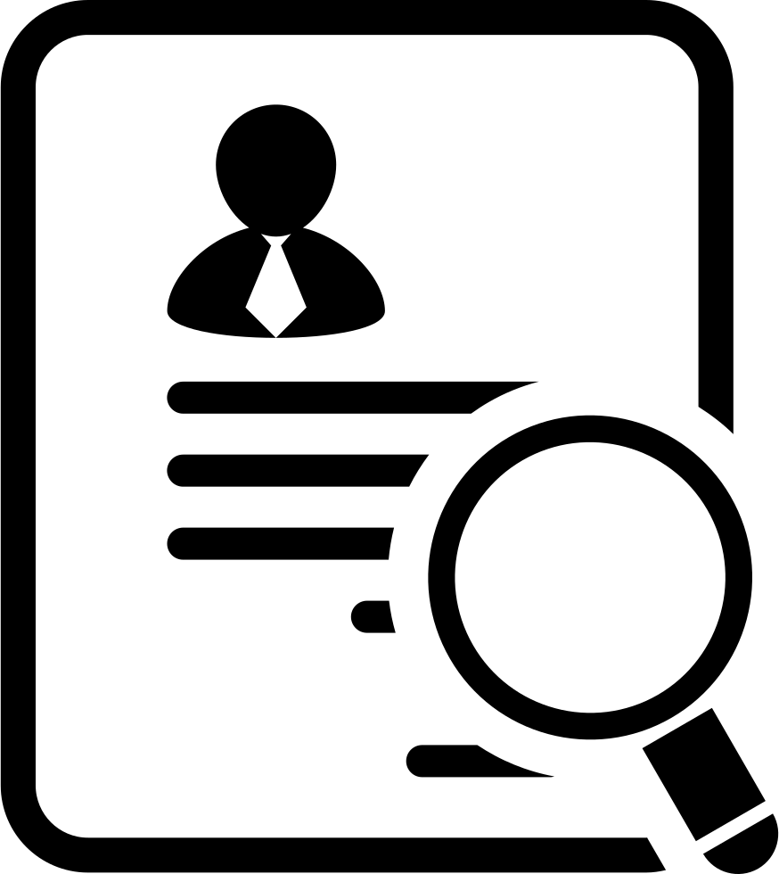businessman paper of the application for a job svg png