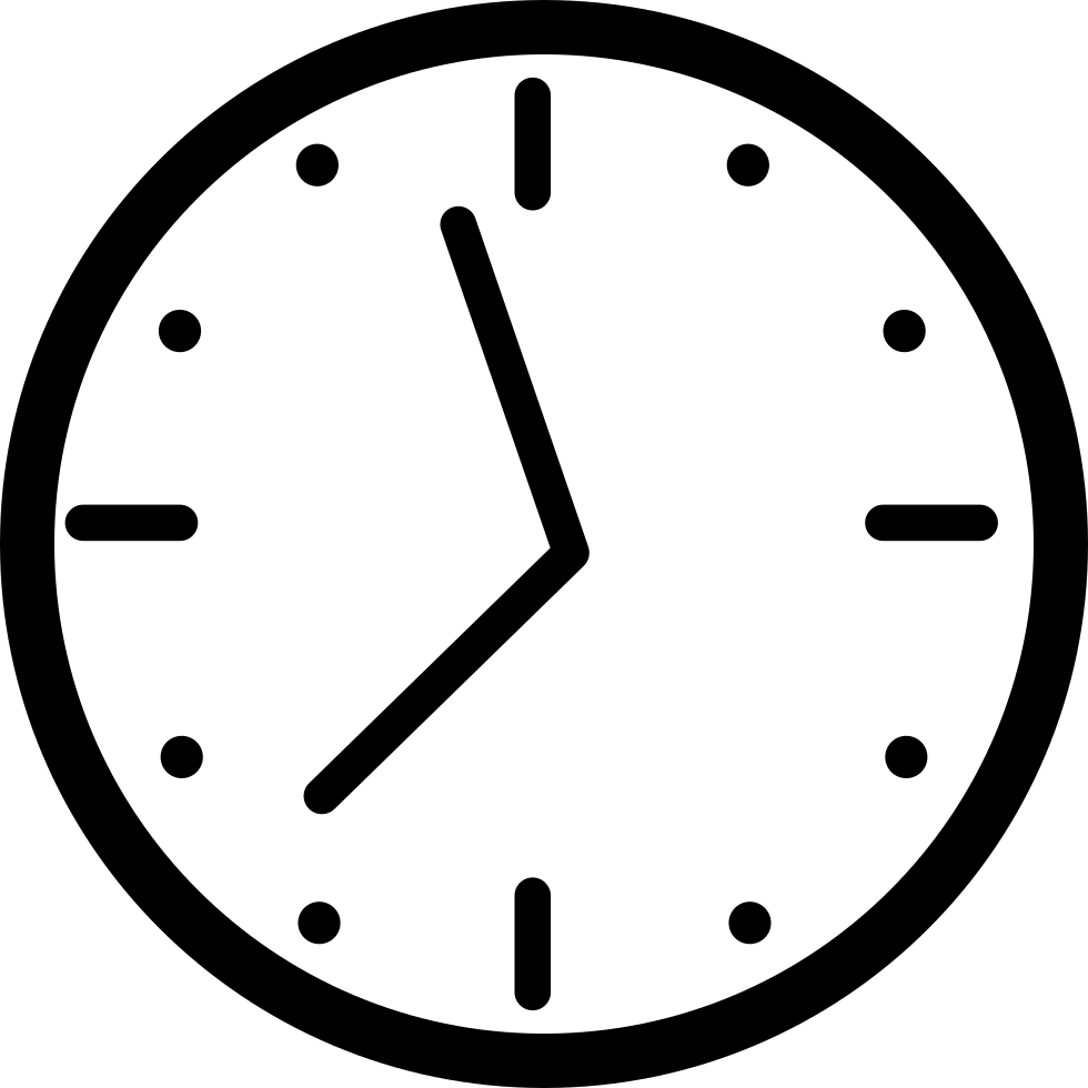 Round Wall Clock Svg Png Icon Free Download (#19513