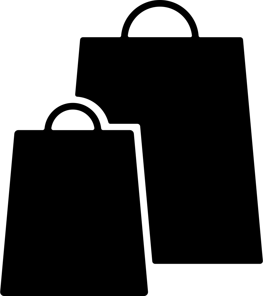 Shopping Bags Black Couple Svg Png Icon Free Download ...
