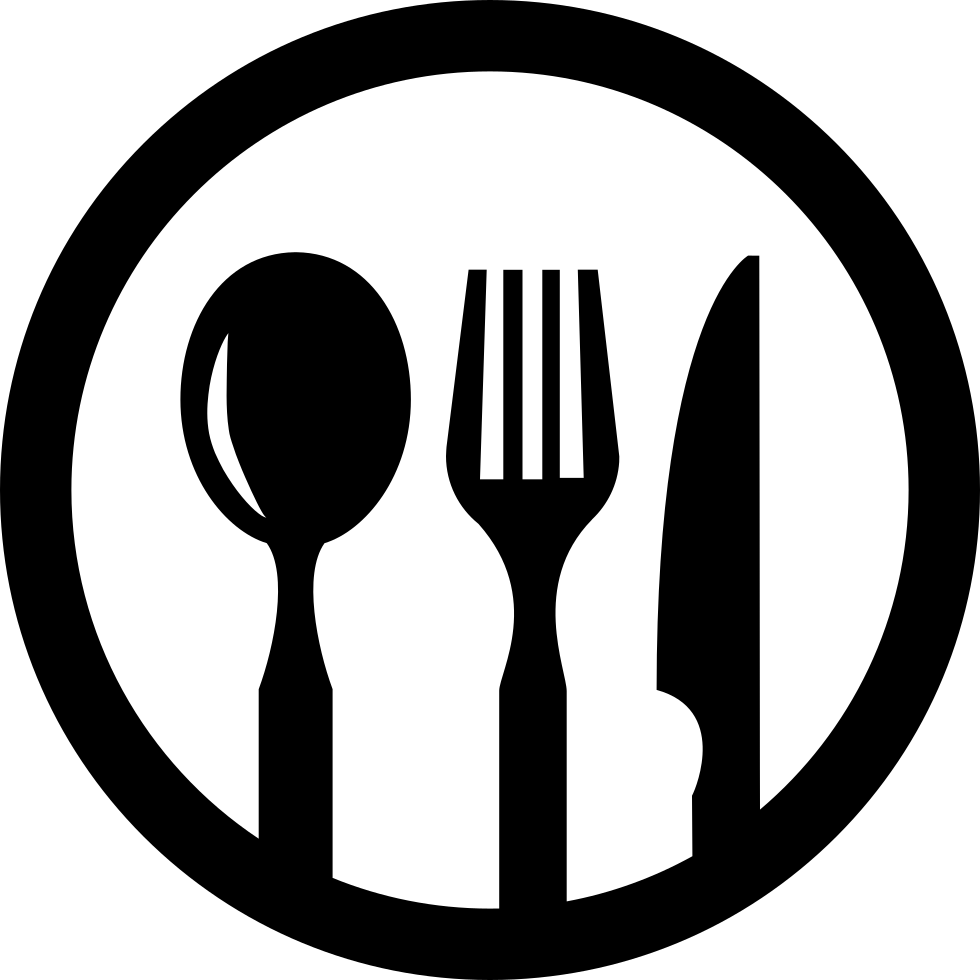 Restaurant Symbol Of Cutlery In A Circle Svg Png Icon Free Download